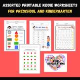 Printable Math and Language Worksheets for Preschool and K