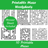 Printable Maze Worksheets | Distance Learning
