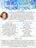 Printable Meet the Student Teacher Handout (EDITABLE)