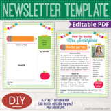 Printable Meet the Teacher Template, Editable Back to School Welcome Letter