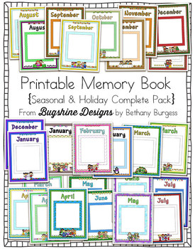 Printable Memory Book {Seasonal & Holiday Complete Bundle}