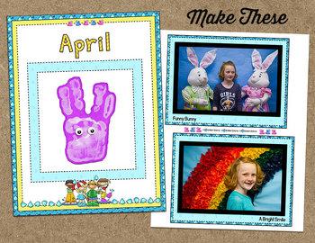 Printable Memory Book Spread {April Rainy Kids}