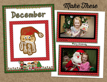 Printable Memory Book Spread {Christmas Kids} and Planner