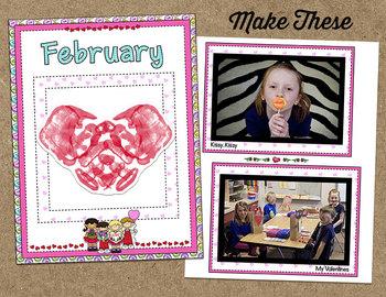 Printable Memory Book Spread {February Valentine Kids}