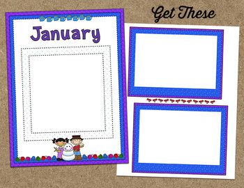 Printable Memory Book Spread {January Winter Kids}