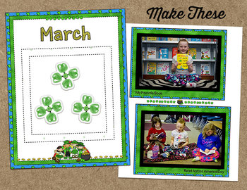 Printable Memory Book Spread {March Leprechaun Kids}