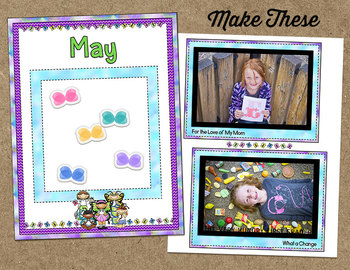 Printable Memory Book Spread {May Butterfly Kids}