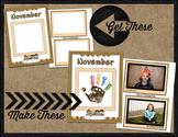 Printable Memory Book Spread {November Thanksgiving Kids}