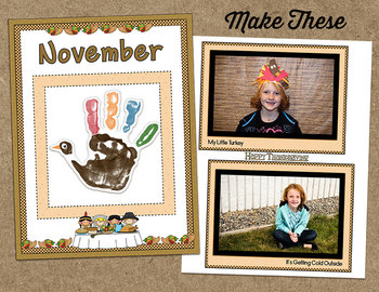 Printable Memory Book Spread {November Thanksgiving Kids}