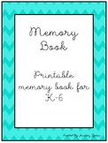 Printable Memory Book TWO VERSIONS: K-2, 3-6