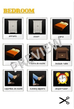 Printable Memory Game - Spanish vs English - In Your House
