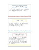 Printable Memory Verse Cards (ESV) Set A