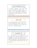 Printable Memory Verse Cards (NKJV) Set B