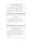 Printable Memory Verse Cards (NKJV) Set B