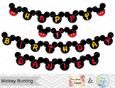 Printable Mickey Banner, Mickey Birthday Party Banner, Mickey Bunting