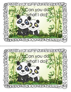 Printable Mini-Book: Can you do what I do?
