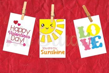 Printable Mini Valentines For Kids, Kiddy Valentines, Valentine's Day