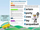 Printable Mnemonic: Narrative Elements