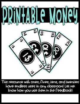Printable Money (Dollar Bills)