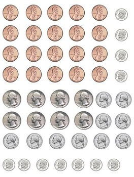 Printable Money - Penny, Nickel, Dime, and Quarter