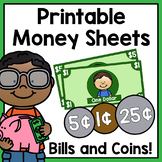 Printable Money Sheets - Classroom Economy