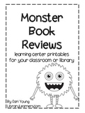 Printable Monster Book Reviews Reading Center