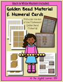 Printable Montessori Golden Bead Material and Numeral Cards