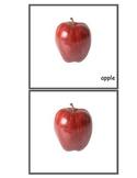 Printable Montessori Simple Nomenclature Cards - Fruits Ma