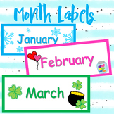 Printable Month Labels