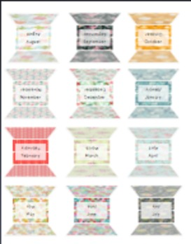 graphic regarding Printable Tabs called Printable Regular monthly TABS for your Planner!