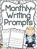 Printable Monthly Writing Prompts (For Portfolio)