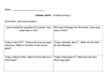 Printable Months of the Year Math Center Packet