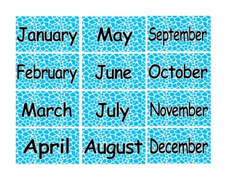 picture relating to Printable Months of the Year referred to as Printable Weeks of the Yr Math Centre Packet