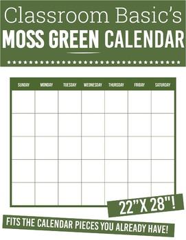 "Printable Moss Green Calendar (22""X28""!)"