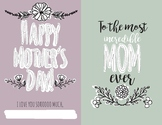 Printable Mother's Day Booklet: Craft / Card for Mom, Mum