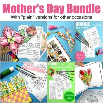 Printable Mother's Day & general Spring Flower Bundle - 24 Page Printables