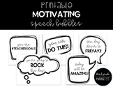 Printable Motivating Speech Bubbles