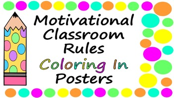 Class Rules Coloring In Printable Activity for Back to Sch