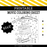 Movie coloring page printable