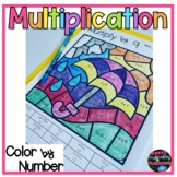 Printable Multiplication Facts Color By Number Worksheets