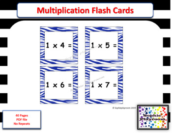 graphic about Printable Multiplication Cards identified as Printable Multiplication Flash Playing cards - No Repeats