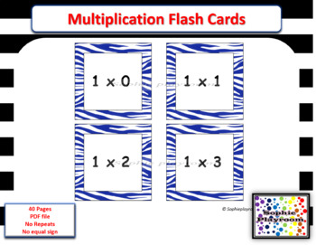 photograph relating to Printable Multiplication Cards identified as Printable Multiplication Flash Playing cards - No Repeats