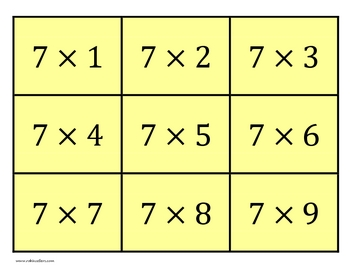 Printable Multiplication Flash Cards with Answers by Robin Sellers
