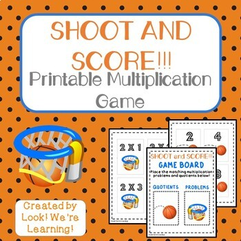 Printable Multiplication Game - Shoot and Score!