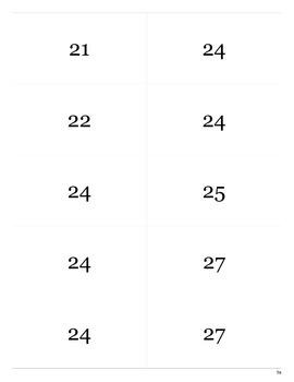 Printable Multiplication Times Flash Cards 2-12