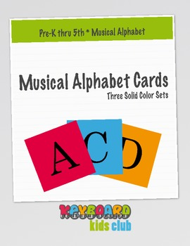Printable Musical Alphabet Cards from KeyboardKidsClub