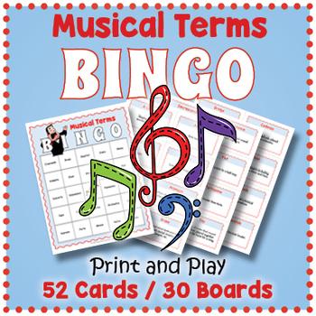 Music BINGO - Musical Terms BINGO