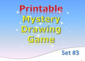 Printable Mystery Drawing Game Jaws Set 3 Elementary Game