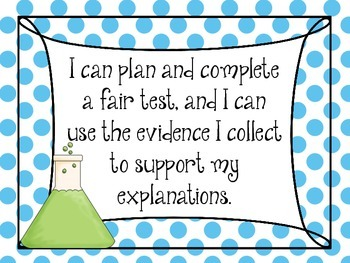 "Printable: NGSS ""I Can..."" Posters"