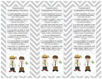 "Printable: NGSS ""I Can..."" Student Bookmark"